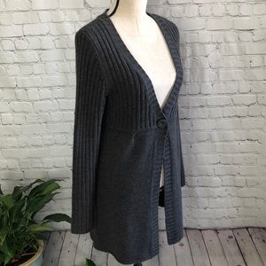 Denim & Company Dark Gray Sweater Size Medium